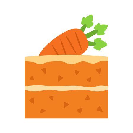 Carrot cake on white background