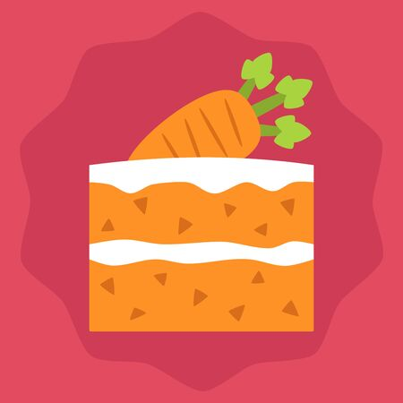 Carrot cake slice design Ilustracja