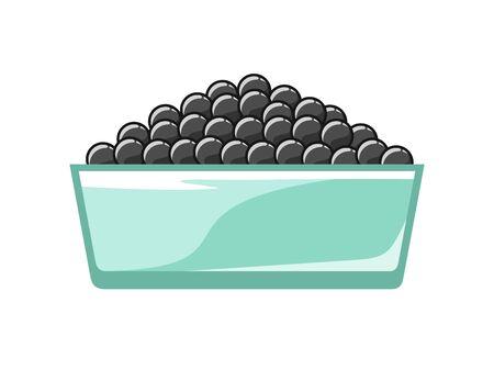 Black caviar in a bowl