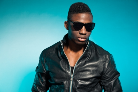 Cool urban stylish black american man. Fashion studio shot. Stock Photo - 17847968