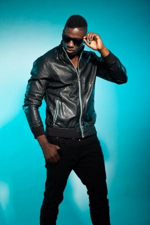 Cool urban stylish black american man. Fashion studio shot. Stock Photo - 17847996