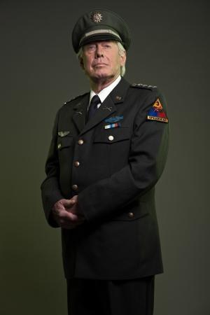US military general in uniform. Studio portrait. Stock Photo - 17890123