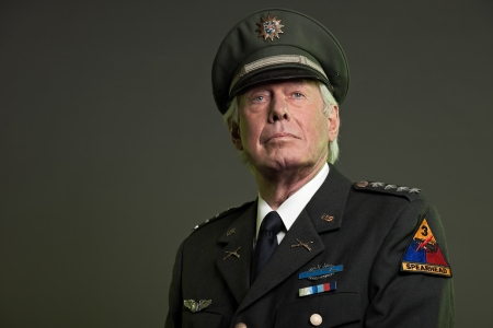 US military general in uniform. Studio portrait. photo