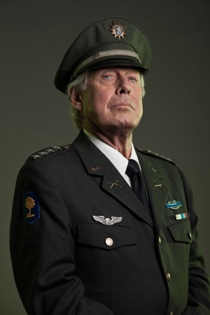 colonel: US military general in uniform. Studio portrait.