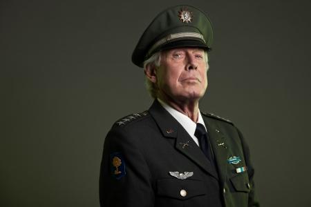 US military general in uniform. Studio portrait. photo