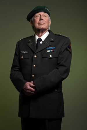 admiral: US military general in uniform. Studio portrait.