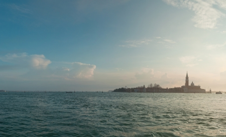 Panorama of the big canal in Venice. Italy. Europe. Stock Photo - 18594681