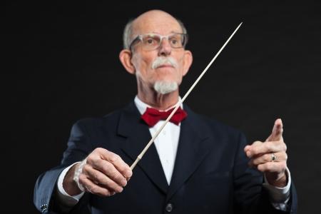 Senior conductor wearing suit  Studio shot Stock Photo - 20380633
