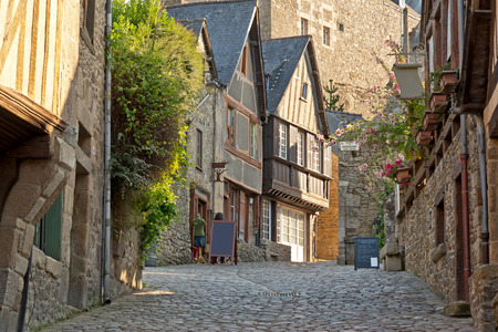 dinan: Picturesque houses of Dinan. Brittany. France.
