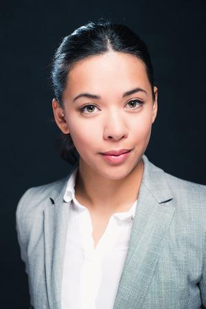 mixed race: Beauty studio portrait of mixed race girl Stock Photo