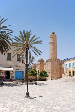 Het oude fort van Tunesië.  Stockfoto