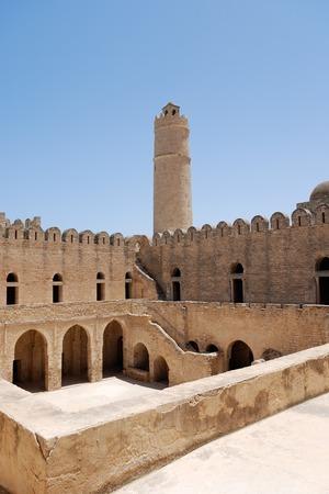 De oude Arabische vesting in Sousse, Tunesië. Stockfoto