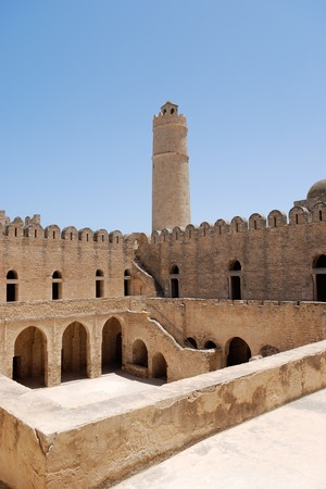 The ancient Arab fortress in Sousse, Tunisia.