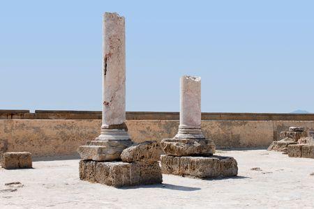 Las ruinas de la Cartago, T�nez  Foto de archivo