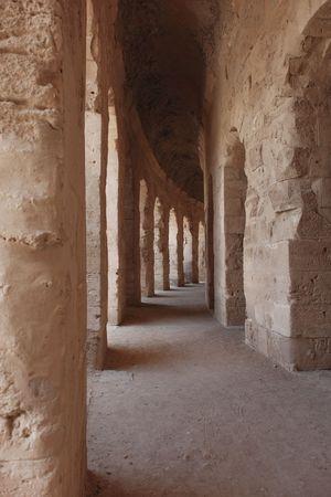 Ancient anfiteatro romano en El-Jem, T�nez (UNESCO Patrimonio de la Humanidad)  Foto de archivo