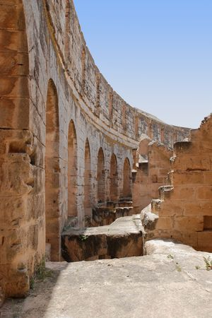 Romeinse Amfitheater in El-Jem, Tunesië (UNESCO World Heritage)