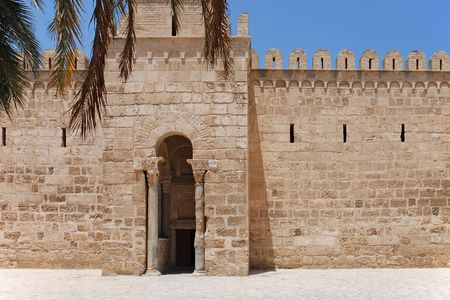 Gate of Ancient Ribat of Sousse, Tunisia Stock Photo
