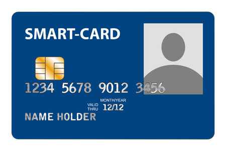 biometric: Closeup of Smart Card