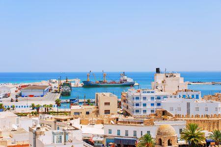 Zeehaven van Sousse, Tunesië Stockfoto