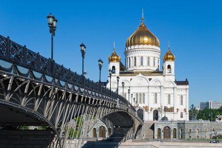 Kathedraal van Christus de Verlosser in Moskou, Rusland  Stockfoto
