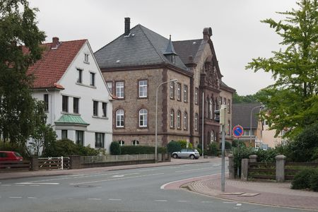 dull: Dull autumn morning in the German village