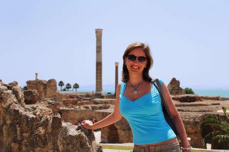 Ruïnes van de Thermen (kan) van Antoninus Pius in Carthage, Tunesië (erf goed van de UNESCO)