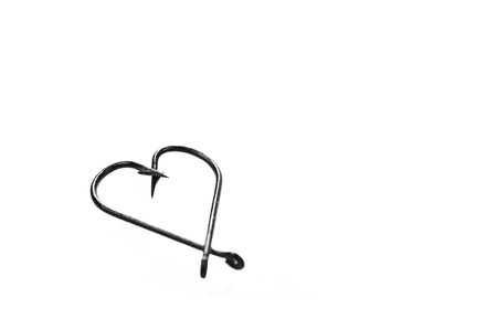 two hooks forming a heart on a white background