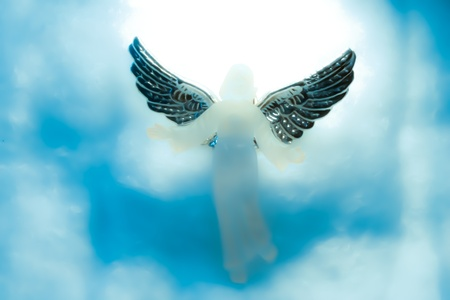 angels bible: Angel in heaven with clouds around omAngel in heaven with clouds all around