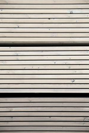 treated board: Nice carefully piled pressure-treated wood Stock Photo