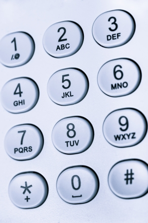 10 key: keypad photographed from above with numbers and letters Stock Photo