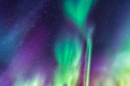 phenomenon: Aurora Borealis a starry sky in the north of Sweden