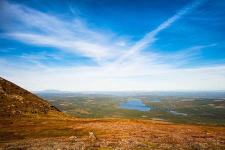 stunning views over forests and lakes in northern Sweden
