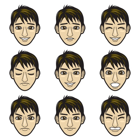 facial expressions: man face