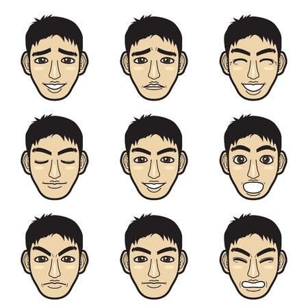 emotion faces: man face
