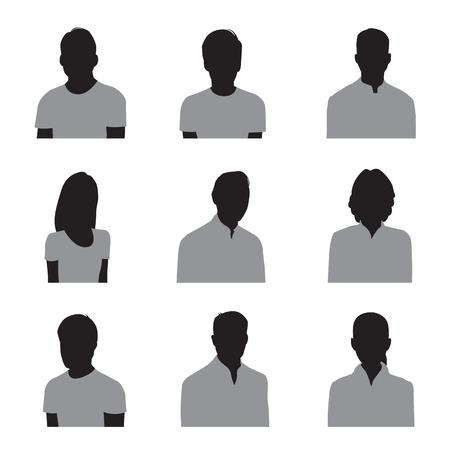 Het silhouet van het bedrijfsleven Stock Illustratie