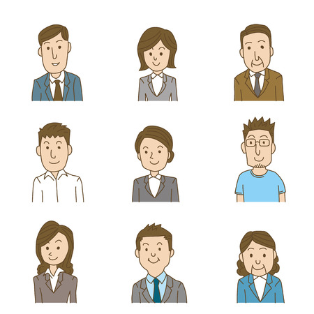 business team Stock Illustratie