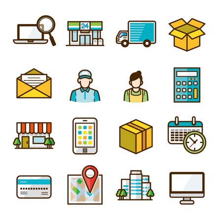 convenience: delivery icons
