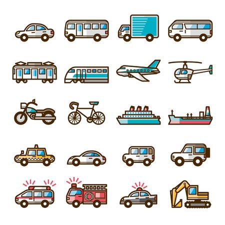 loading truck: Vehicles Illustration