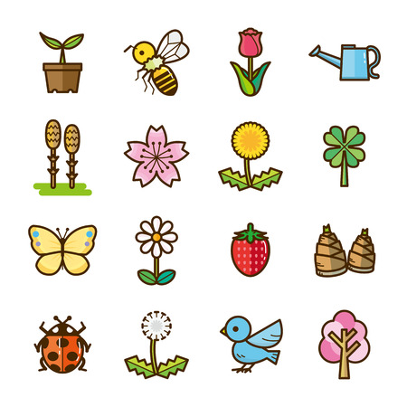 horsetail: spring icons