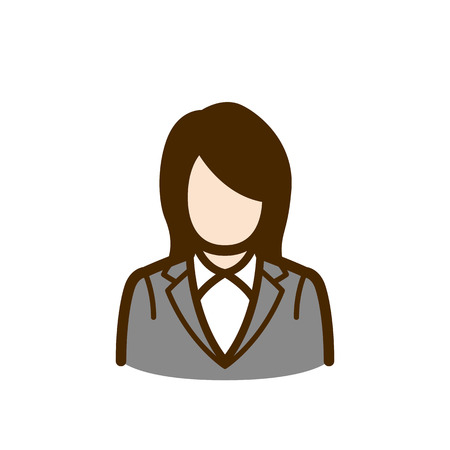 A vector of a business woman Çizim