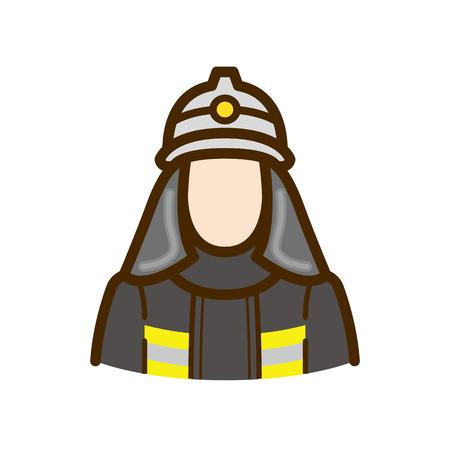 fire fighter: fireman Illustration