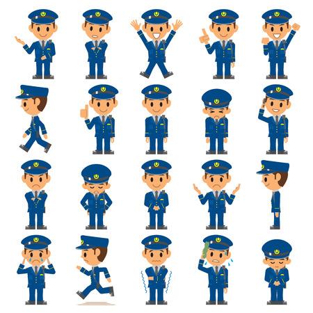 Politie, Bewaker Stock Illustratie