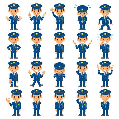 警察の警備  イラスト・ベクター素材