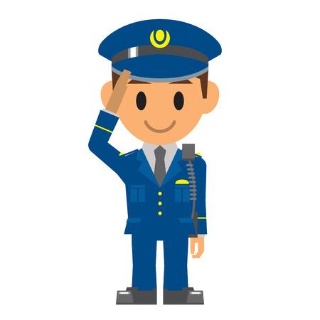 Polizia, Guardia di sicurezza Archivio Fotografico - 32881618