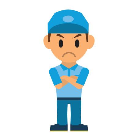 indignation: Delivery man Illustration