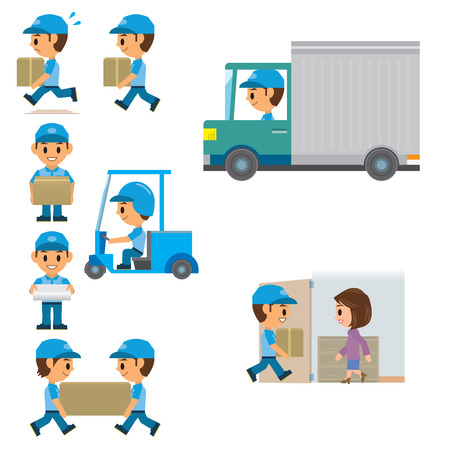 delivery truck: Delivery man Illustration