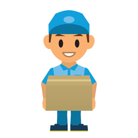 Delivery man Stock Illustratie