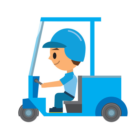 courier service: Delivery man Illustration