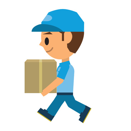 Delivery man Ilustracja