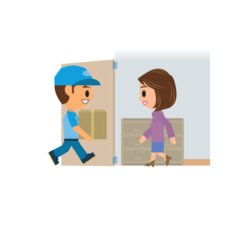 delivery man: Delivery man Illustration